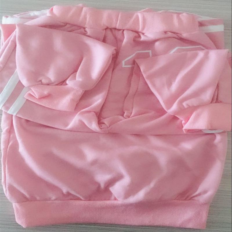 Marca de ropa para bebé niño trajes otoño ocasional ropa de bebé niña establece niños traje sudaderas + pantalones deportivos primavera niños conjunto J190520