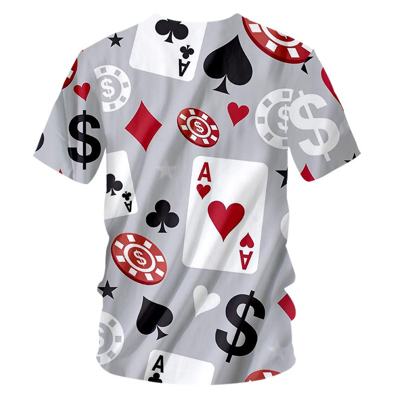 Funny Poker t shirts Men Women Harajuku 3D Poker Game print Fashion T-shirt Summer Oversize T-shirt 7XL Hip Hop Mens Clothing (2)