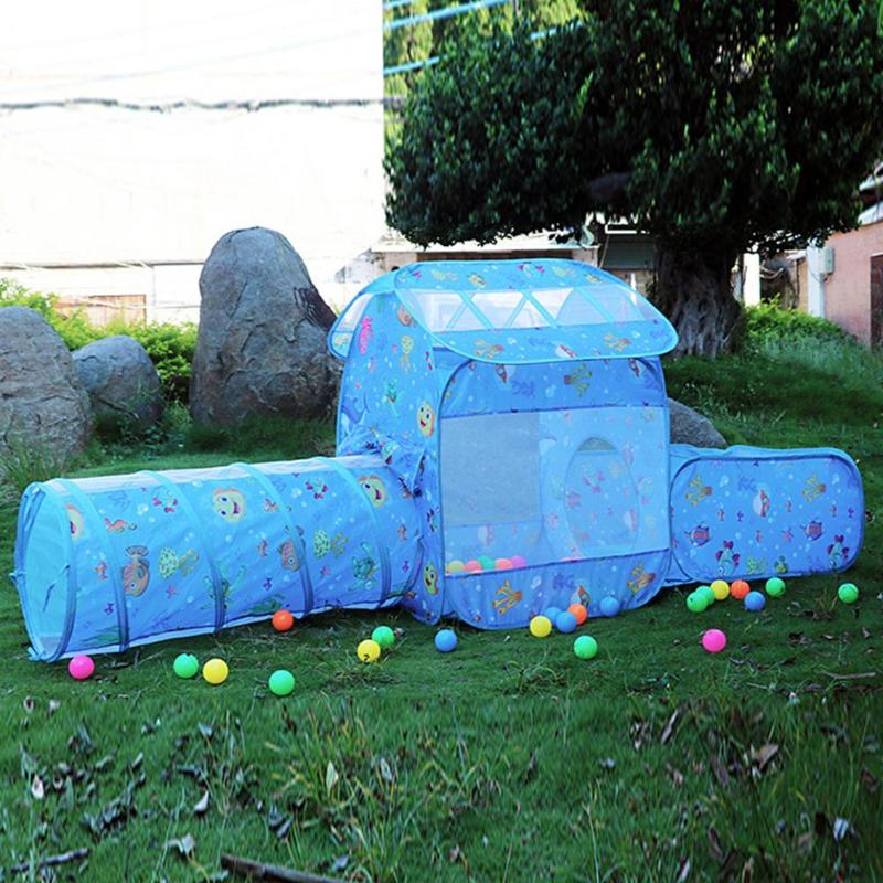 Kids Ball Pool Playhouse Castle Tents Portable Children Outdoor Garden Folding Play Tent Lodge Kids Balls Pool Playhouse