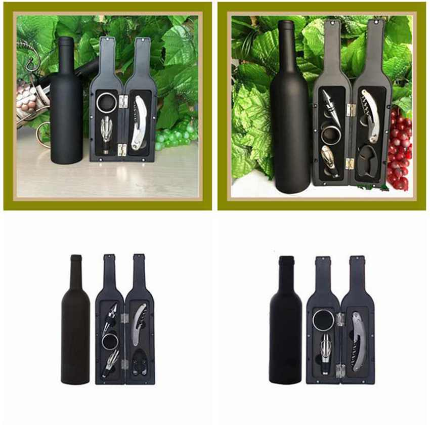 10pcs Wine Tool Set Bottle Opener Wooden Gift Box Corkscrew Accessories