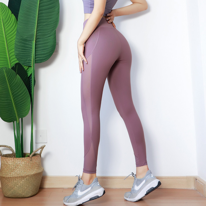 Yoga Pantolon Kadın Kompakt Yükseklik Bel Elastik Kuvvet Kendini yetiştirme Gösterisi Yalın Hız Do Havalandırma Eğitim Çalıştırmak Vücut Geliştirme Pantolon
