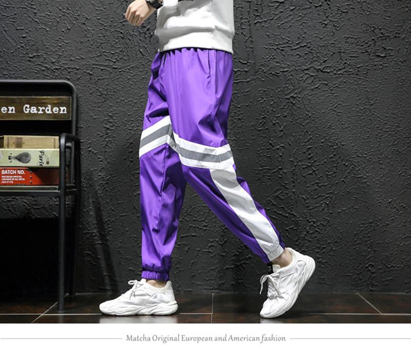 Loose Hip Hop Cargo Pants Men Camouflage Patchwork Harem Mens Trousers Streetwear (10)