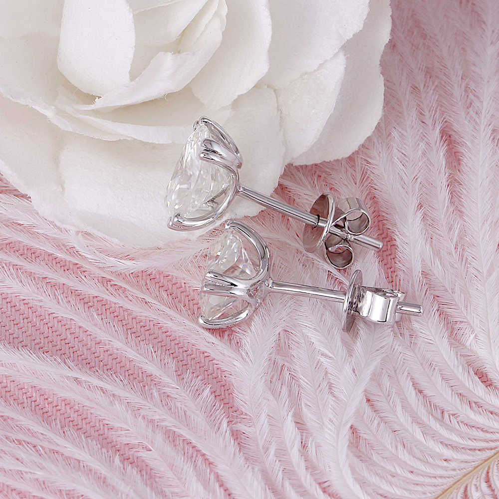 cushion cut moissanite earrings (5)