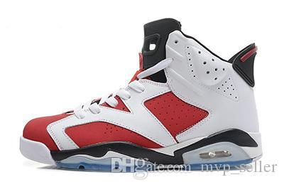 hot new 6 maroon black infrared basketball shoes 2019 men women high low cut VI US size 5.5-13 sneakers Good Quality Version