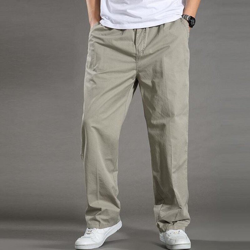 Summer Men's Plus Size Clothing 4xl 5xl 6xl Cargo Pants Big Tall Men Casual Many Pockets Loose Work Pants Male Straight Trousers T190824
