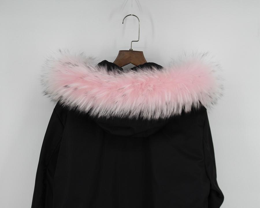 genuine raccoon fur hoody trim collar (8)