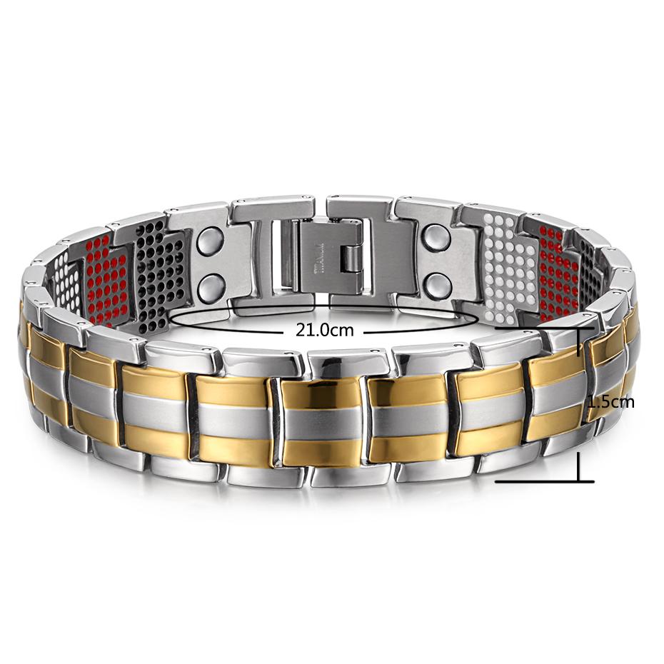 silver goldTitanium Bracelets (6)