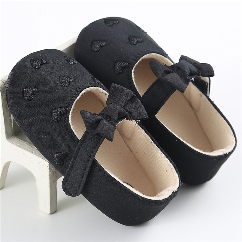 Summer Baby Girls Shoes Toddler Kids Baby Girl Canvas Solid Bow-knot Soft Sole Anti-slip Shoes Baby First Walker Shoes M8Y11 (27)