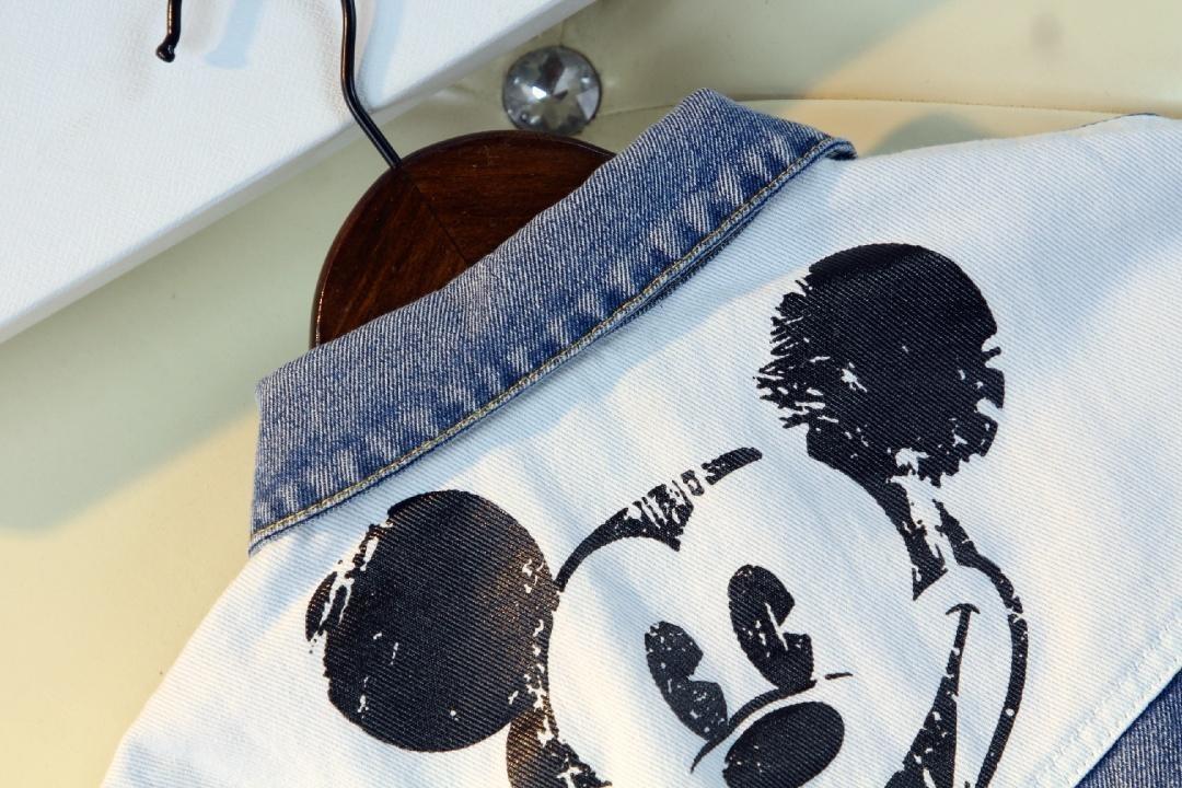 giacca bambini Abiti in denim Tendenza Moda occidentale Giacca Stampa digitale tendenza Stile Giacca Giacca Denim Effetto lavaggio 40
