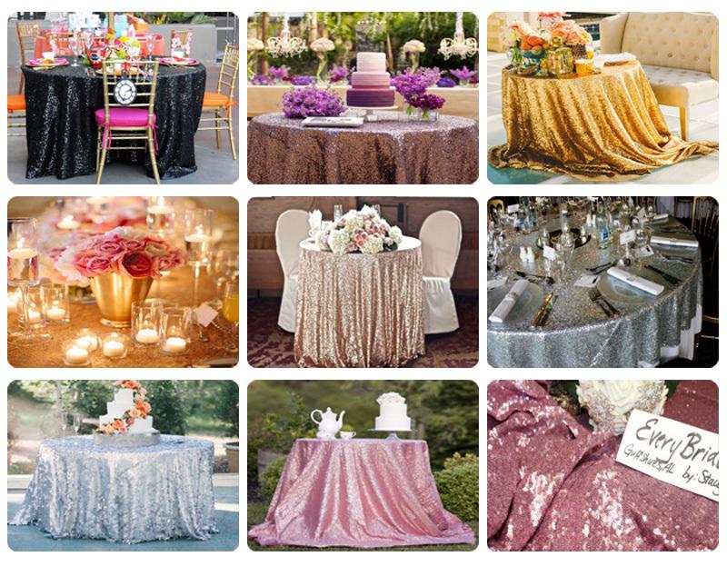 sequin tablecloth009 -