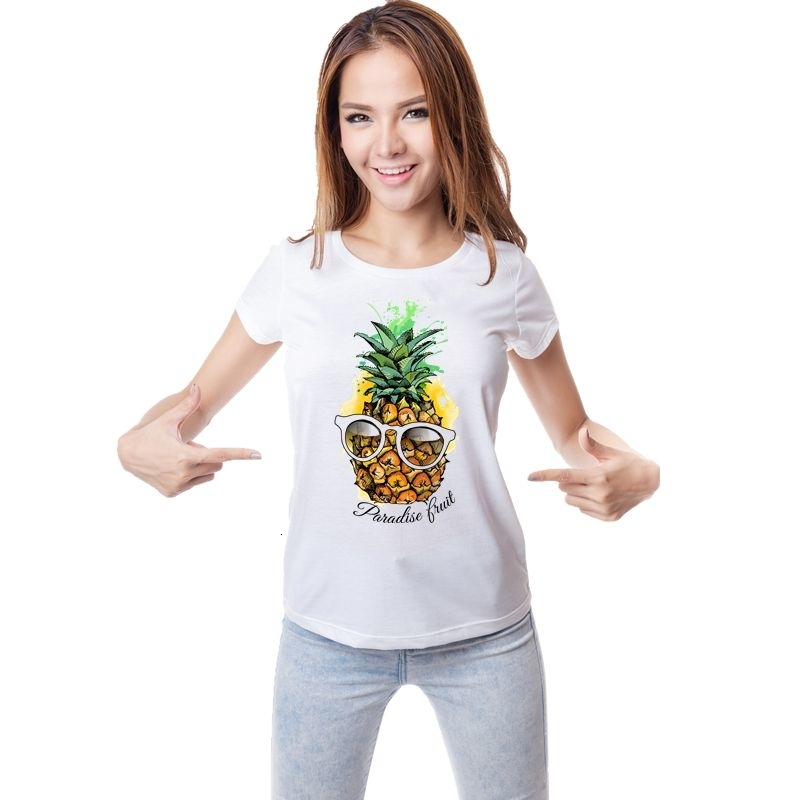 PPAP Stylo Ananas Apple Noir Femmes T-Shirt T-shirt Tee Top