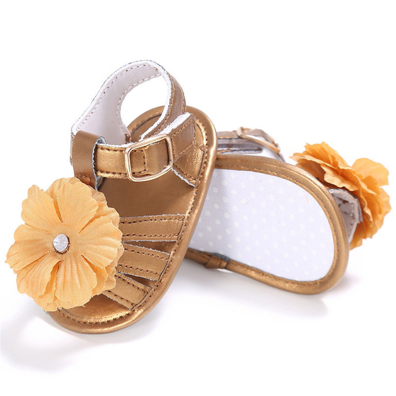 4 Color Summer Baby Shoes Toddler Girl Crib Shoes Newborn Flower Soft Sole Anti-slip First Walker NDA84L24 (10)