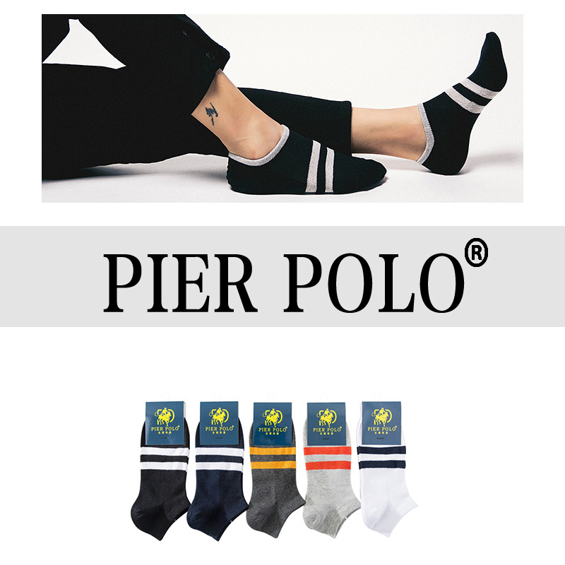 Di alta qualità 5 paia / lotto molo polo uomini calzini di marca estate moda casual morbido cotone breve calzini uomo divertente calzini alla caviglia MX190719