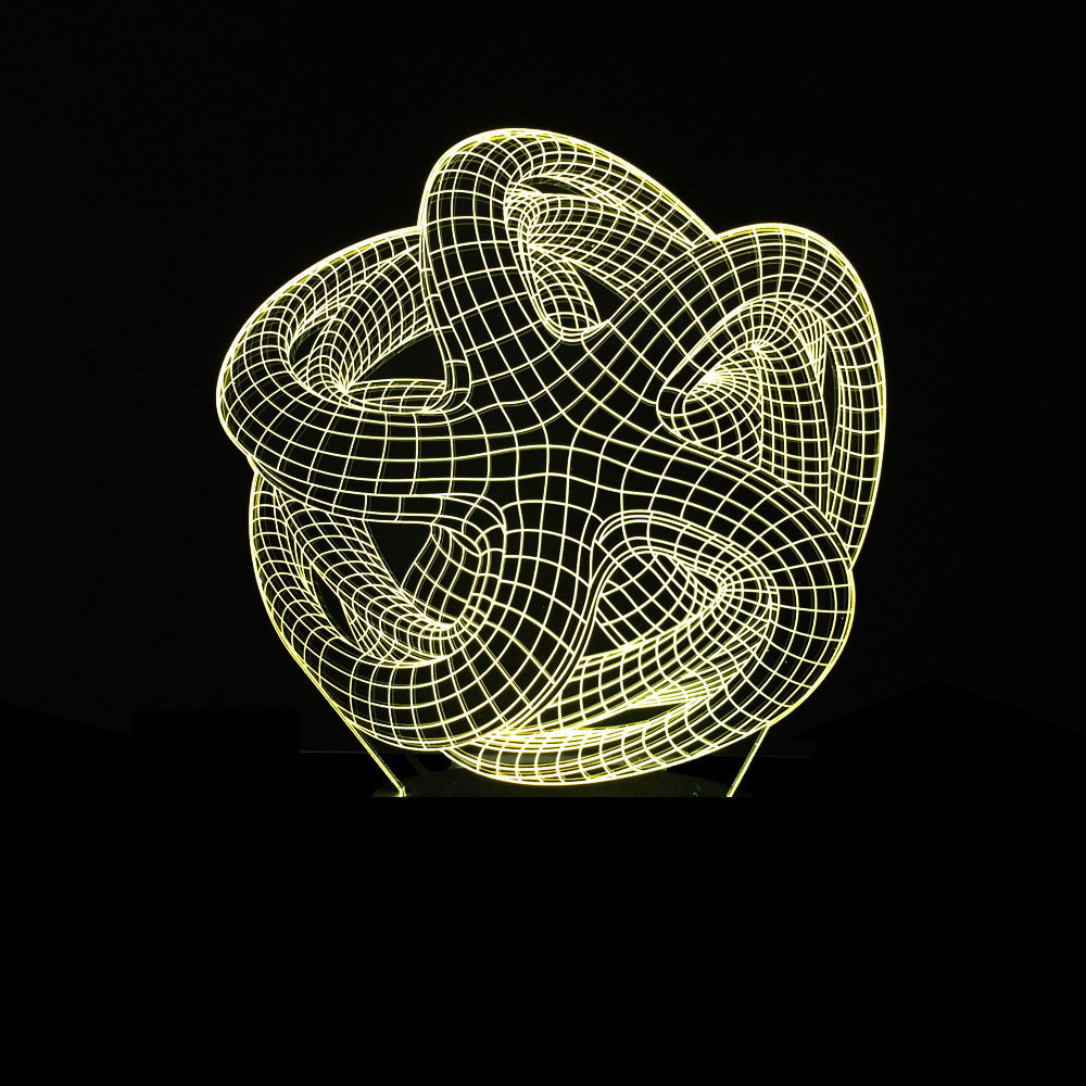 Graphical Vision Three-dimensional Touch Gradual Change 3d Led Illusion Colorful Small Night Lampstand Lamp
