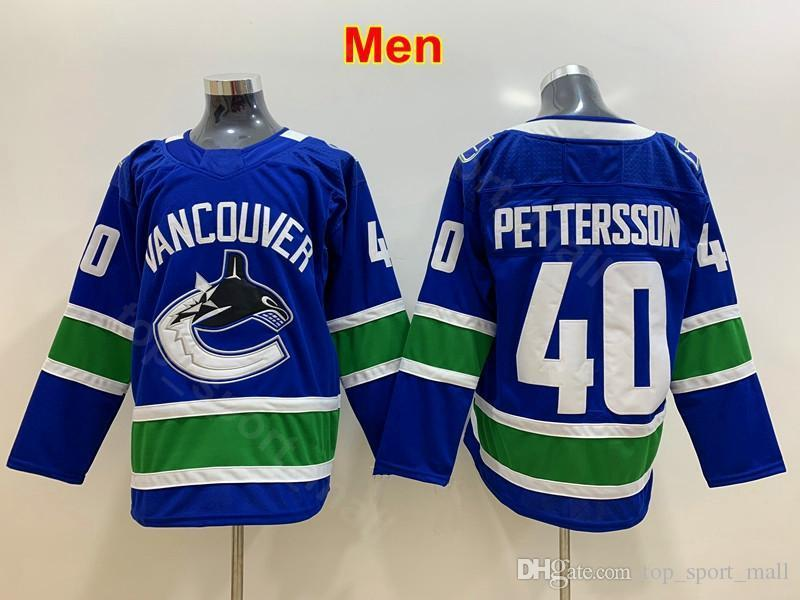 reputable site a0a58 45cab 2019 Men Youth Women Vancouver Canucks Jerseys Blank 40 Kids Elias  Pettersson Jersey Ice Hockey Team Color Blue Lady Man Kids From Vip_sport,  &Price; ...