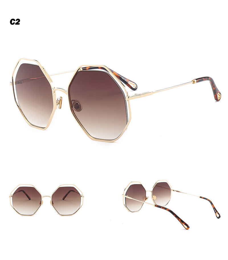 2018 News Goggle Rimless Sunglasses (10)