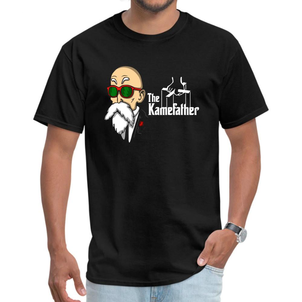 Kamefather Tee Süper Komik Erkek T-shirt Dragon Ball Z Anime Üst Giysi