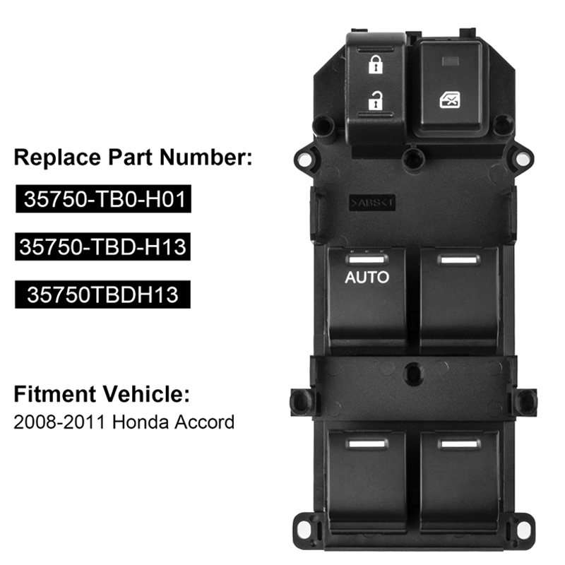 Interruptor de control principal de ventana para LHD coches para Honda Jazz 2002-2008