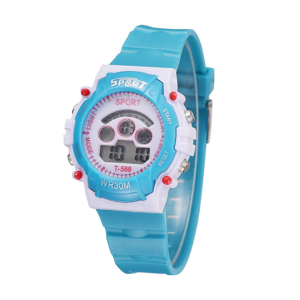Los niños más vendidos ven nuevos deportes Relojes para niños Pulsera de reloj de cuarzo Relojes de pulsera de silicona rosa Niños Niñas Reloj Nino @ 50