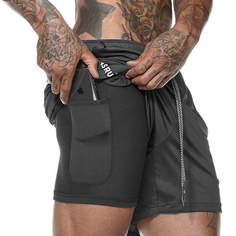 Men-Summer-Slim-Shorts-Gym-Fitness-Bodybuilding-Running-Male-Short-Pant-Knee-Length-Breathable-Mesh-Sportswear (4)