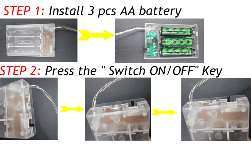 Usage Instruction for the battery lights_