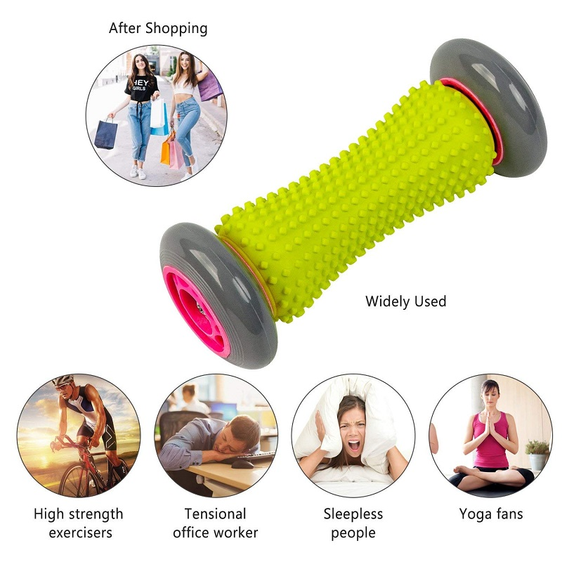 Soft Rubber Foot Massage Roller for Deep Tissue Acupresssure Recovery for Relax Foot Back Shoulder Leg Hand Tight Muscle