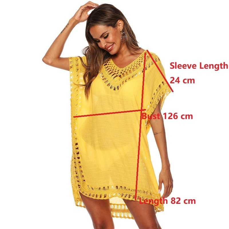 Black Tunic Beach Dress Cover Up Women Bathing Suit Coverup Summer Swimsuit White Yellow Pink Dresses Bikini Swim Pareo Cover-up Y19071801