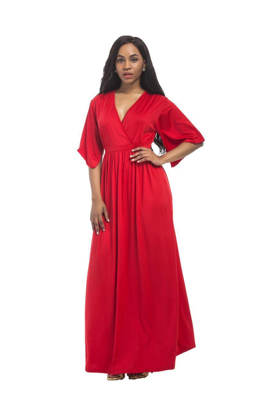 beiläufige kleider damenbekleidung weiß, rot, schwarz, dunkelblau,  königsblau, militär-grau v-ausschnitt amazon heißes neues sexy plus size wom