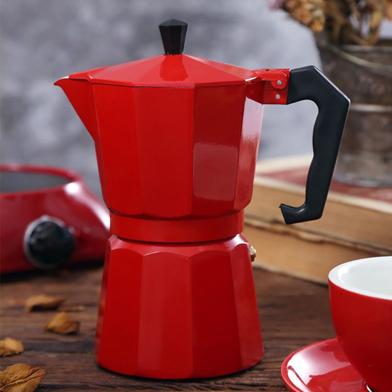 Espresso Kaffeemaschine Herd Topf Italienische Home Aluminium Top Moka