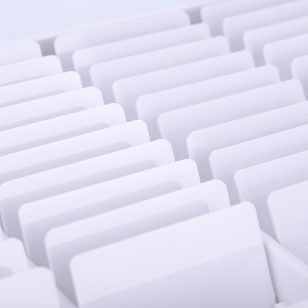 Scatola di immagazzinaggio degli attrezzi di arte del chiodo del manicure Svuota unghie chiare Decorazione di arte del rhinestone Contenitore di perline di gemma di strass Scatola di falsificazione di falsi falsi