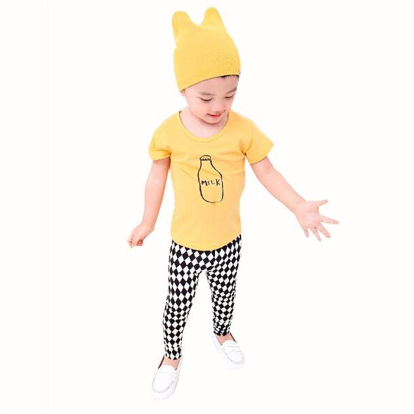Summer Children Boy Kid T-Shirt Milk Bottle Short Sleeve Tops O Neck T-Shirt Tees NDA84L16 (1)