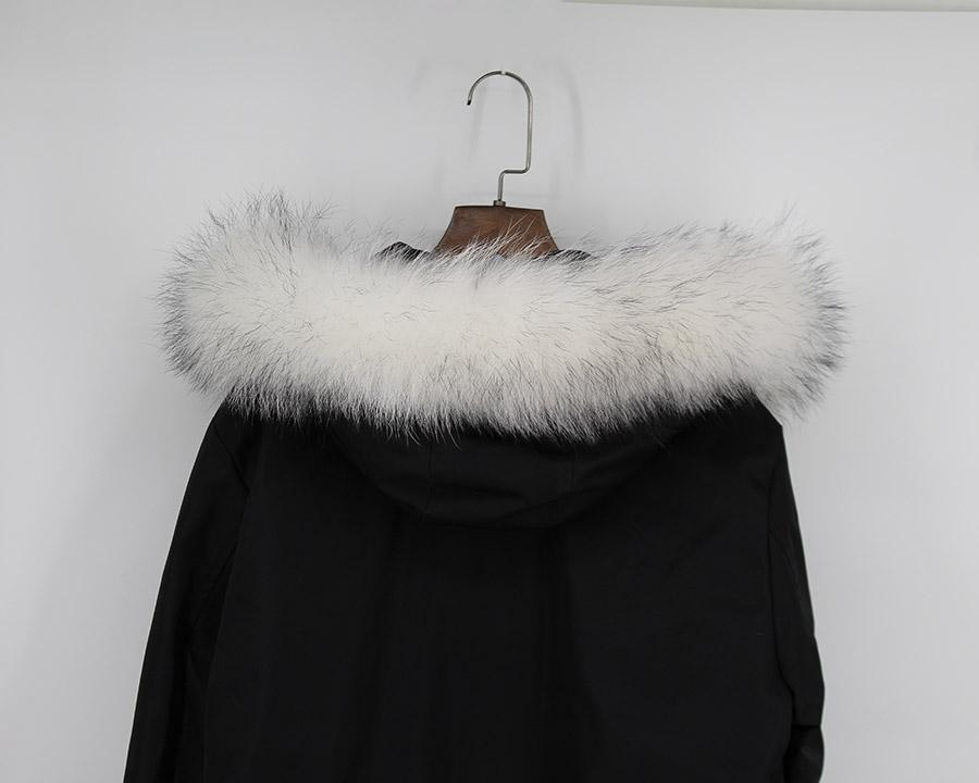 genuine raccoon fur hoody trim collar (9)