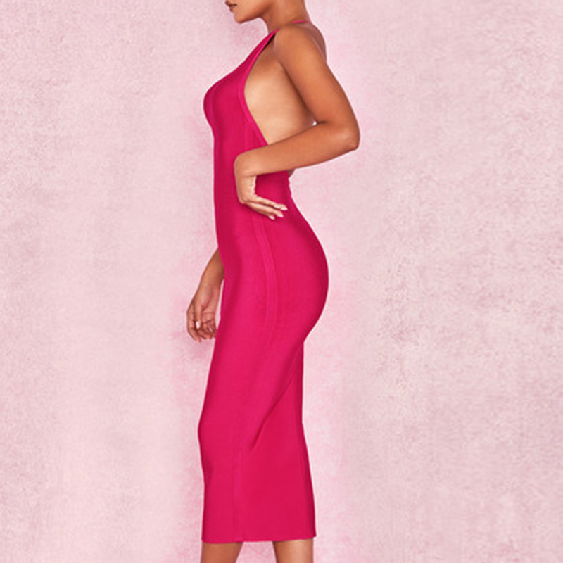Fashion-Women-Dresses-2018-One-Shoulder-Spandex-Ladies-Party-Clothes-Sexy-Backless-Sleeveless-Solid-Bandage-Dresses