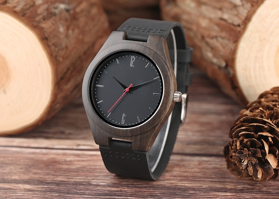 Lovers Gifts Luxury Royal Ebony Wood Watch Mens Fashion Wooden Women Dress Hour Clocks Soft Genuine Leather Relojes Wristwatches 2018 (17)