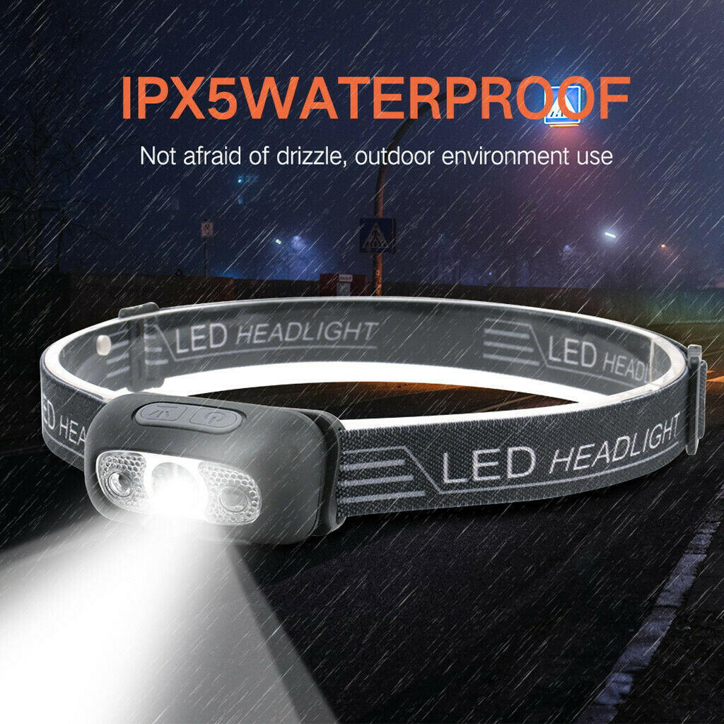 Balıkçılık Kamp Tırmanma için Açık LED Far USB Şarj edilebilir LED Farın Torch Fener Su geçirmez Far