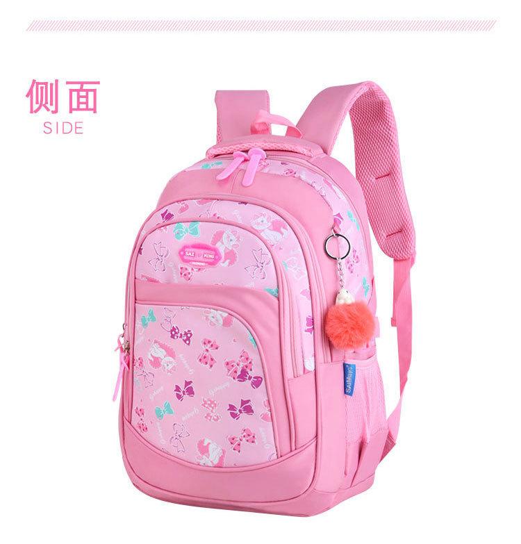 Children School Bags Girls Primary School Backpacks Kids Cartoon Cat Printing Backpacks Children Princess Backpacks Sac Enfant