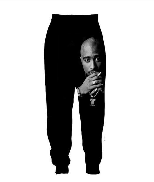 WomenMens Tupac 2PAC emoji THUG LIFE 3D Printed Hip hop Pants Sweatshirt Hoodies