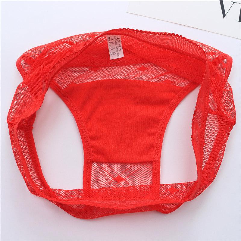 Sexy Seamless Briefs Transparent Women Underwear Panties Ultra-thin Women Briefs Lace Sexy Panty Cotton Underpants Plus Size 39 (11)