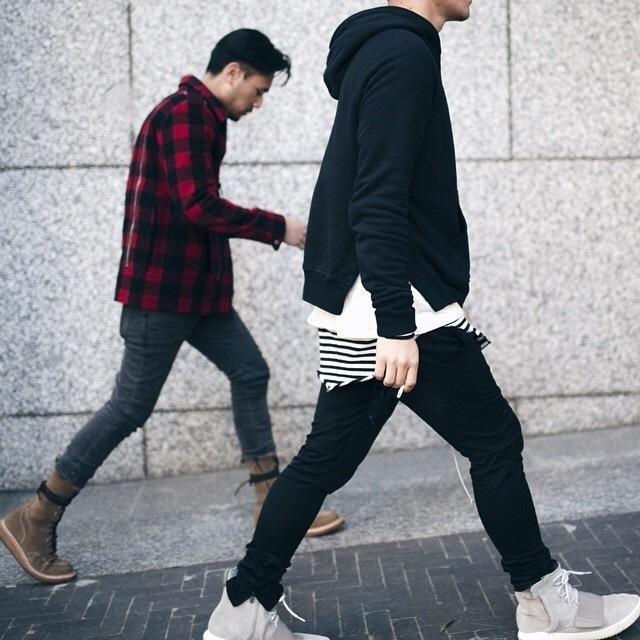 Rua Cool2019 High Stripe Arco Saia Manga Longa de Renderização Unlined Superior Garment Homens E Mulheres Coringa Haihun Em Torno Do Pescoço Longo Fundo T Piedade