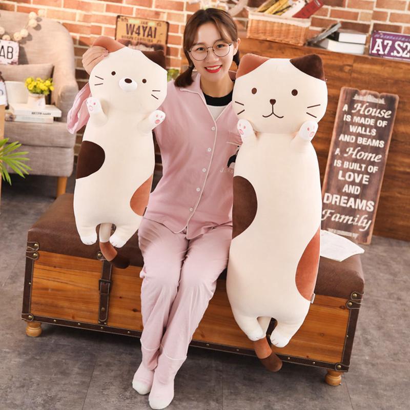 Lovely Cat Plush Toy Soft Stuffed Cushion Plush Animal Toys Cartoon Pillow Pregnant Woman Pillow Children Doll Girl Toys Gift