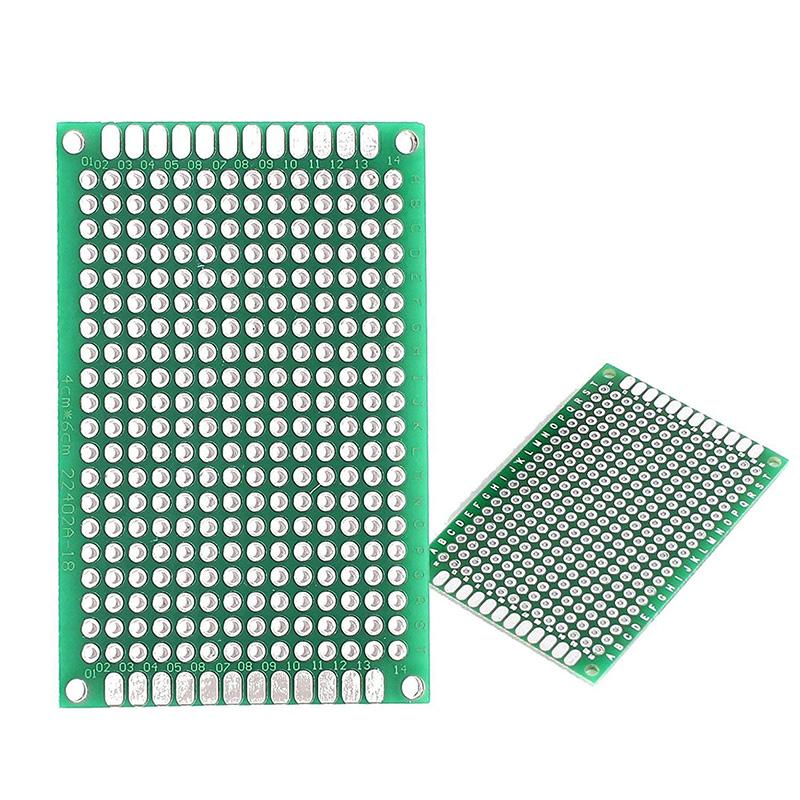 Circuit imprim/é universel 10 pi/èces 4 /× 6cm Double faces Prototypage Carte circuit imprim/é Accessoires projets /électroniques souder