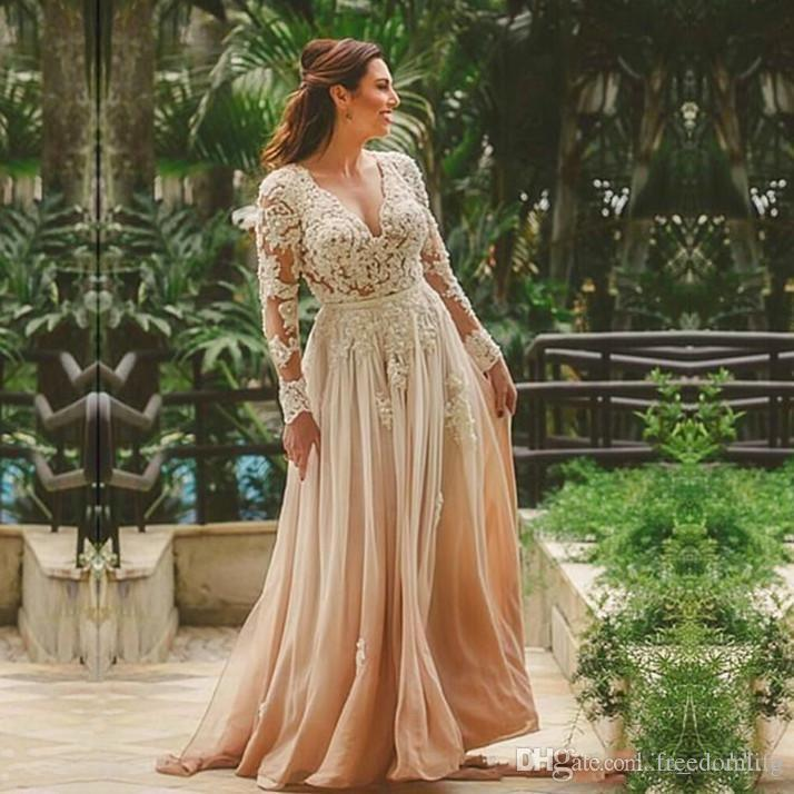 Beauty Vestido de novia Boho Beach Plus Size Wedding Dresses Indian Style Bridal Gown Backless Lace Deep V Neck Wedding Dress