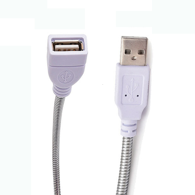 USB Adapter Cable Flexible Metal Hose Power Supply Extension Cord For Lamp AY55