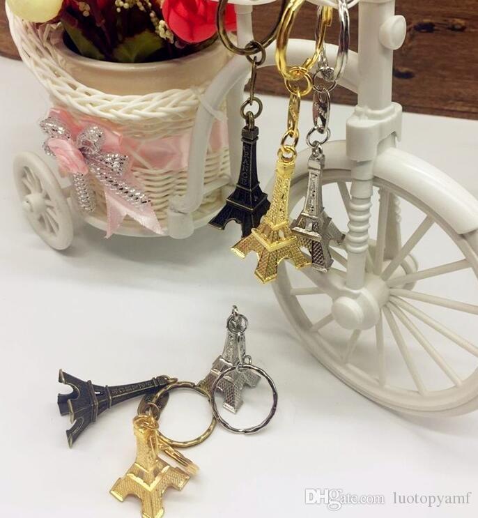 Vintage 3D Paris Eiffel Tower keychain French souvenir paris Keychain Keyring Key Chain Ring