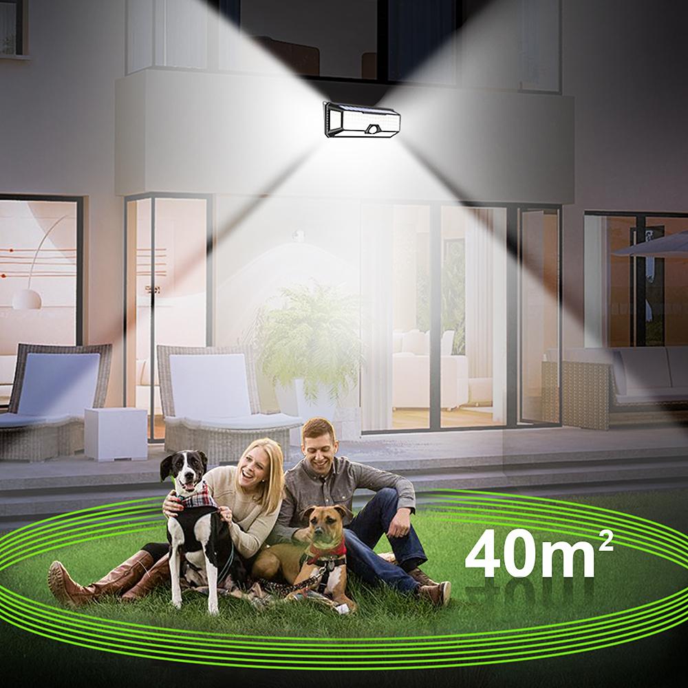 136 LED Solar Street Light For Home Garage Garden Light Solar Powered Wall Street Lamp with Motion Sensor Solar Light Waterproof (2)