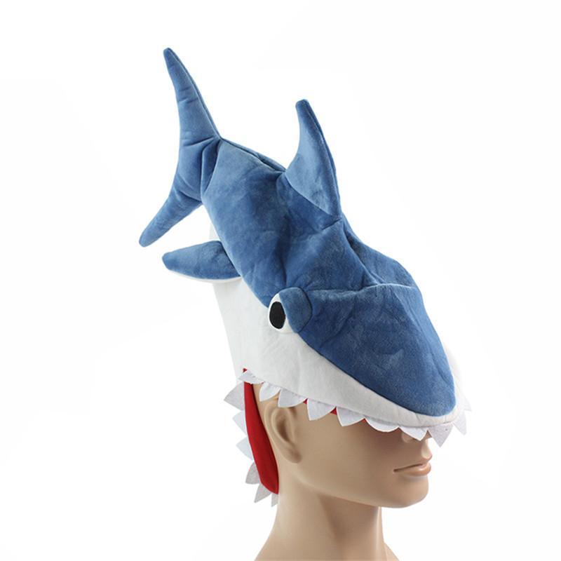 Halloween-funny-originality-Aquarium-shark-piranha-fish-hat-plush-toy-Stuffed-Plush-Cap-Cosplay-Hat-for (1)