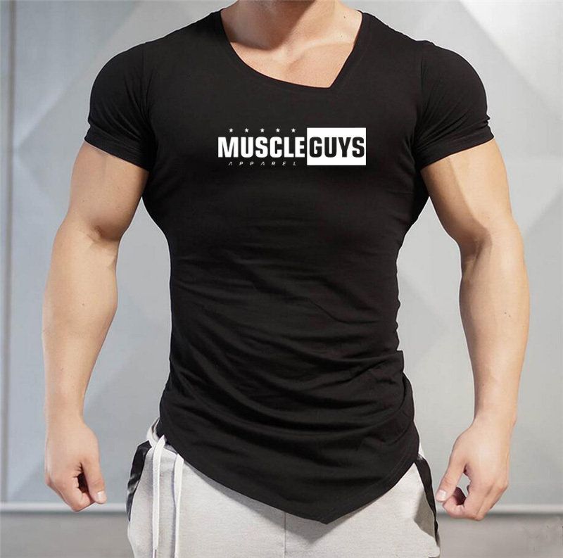 Marke Muscle Sportwear Fitness Gyms T-Shirt Bodybuilding Bekleidung Compression Herren Crossfit T-Shirt Plus Size Q190516