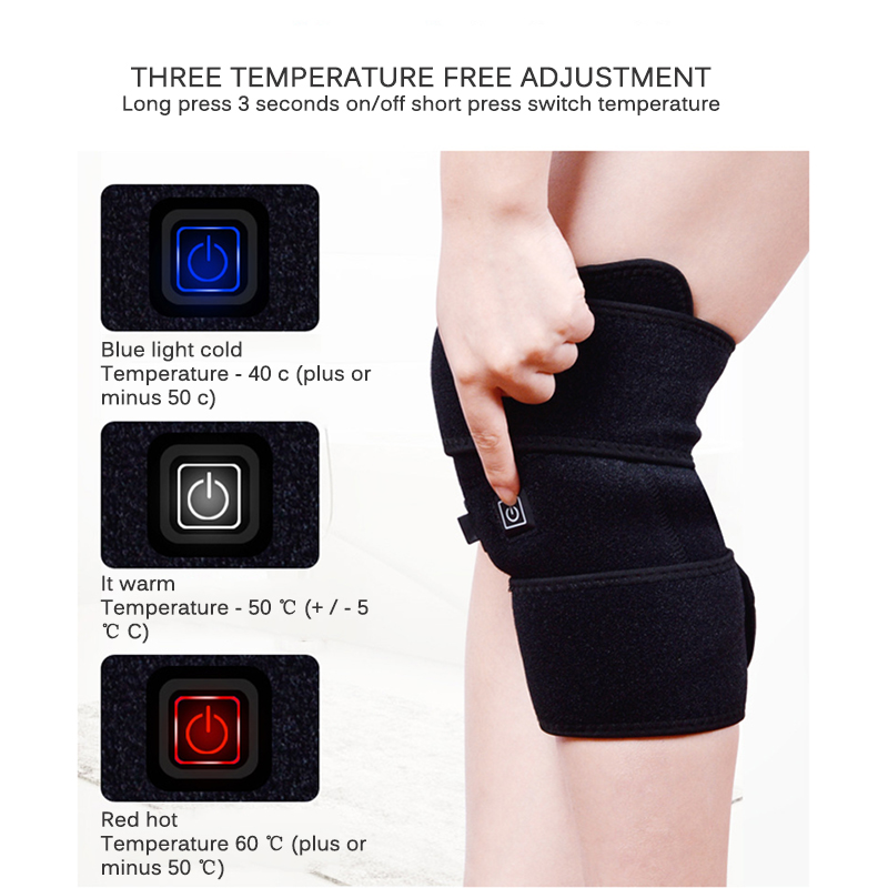 knee brace heated support infrared magnet wrap arthritis massager cramps rehabilitation recovery relief pain therapy 1pcs