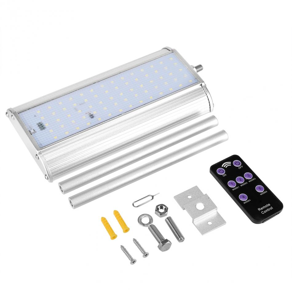 Upgarded 70 LED solaire lumière avec capteur de mouvement radar étanche jardin extérieur lampe allume avec télécommande