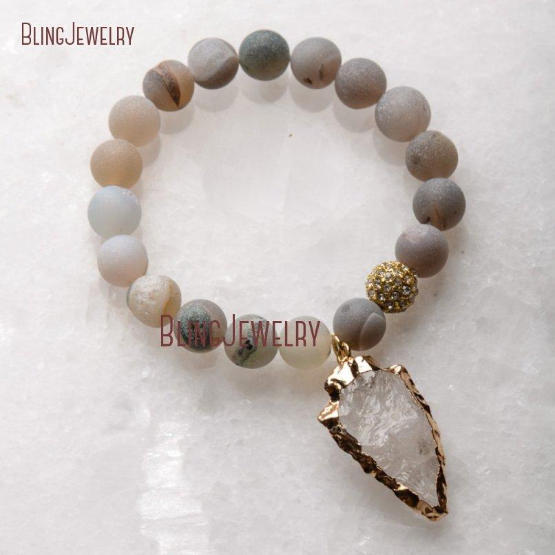 20181201-BM17426-Latest Arrowhead Clear Crystal Bracelet On Sale_31